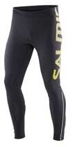 Salming Running Tights Men Svart/Gult tryck logo