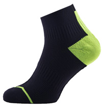 Sealskinz Road Socklet, kort skaft (svart/gul)