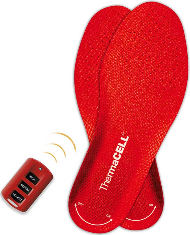 skor med inbyggd värme